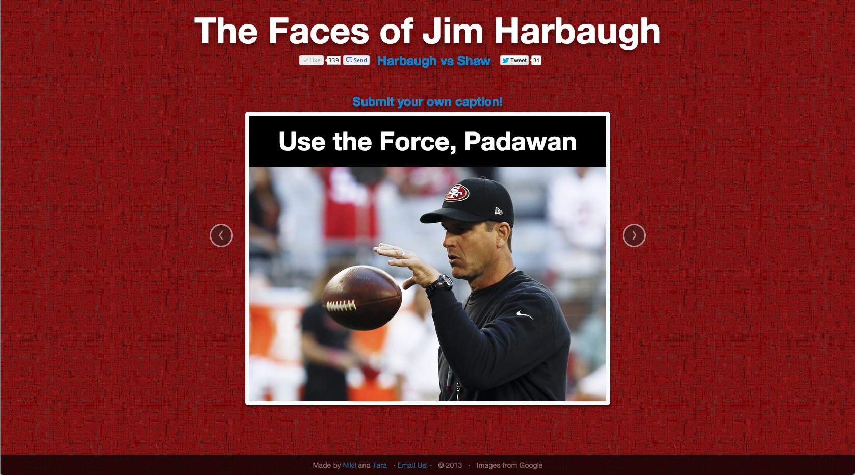 Faces of Harbaugh: Use the Force, Padawan