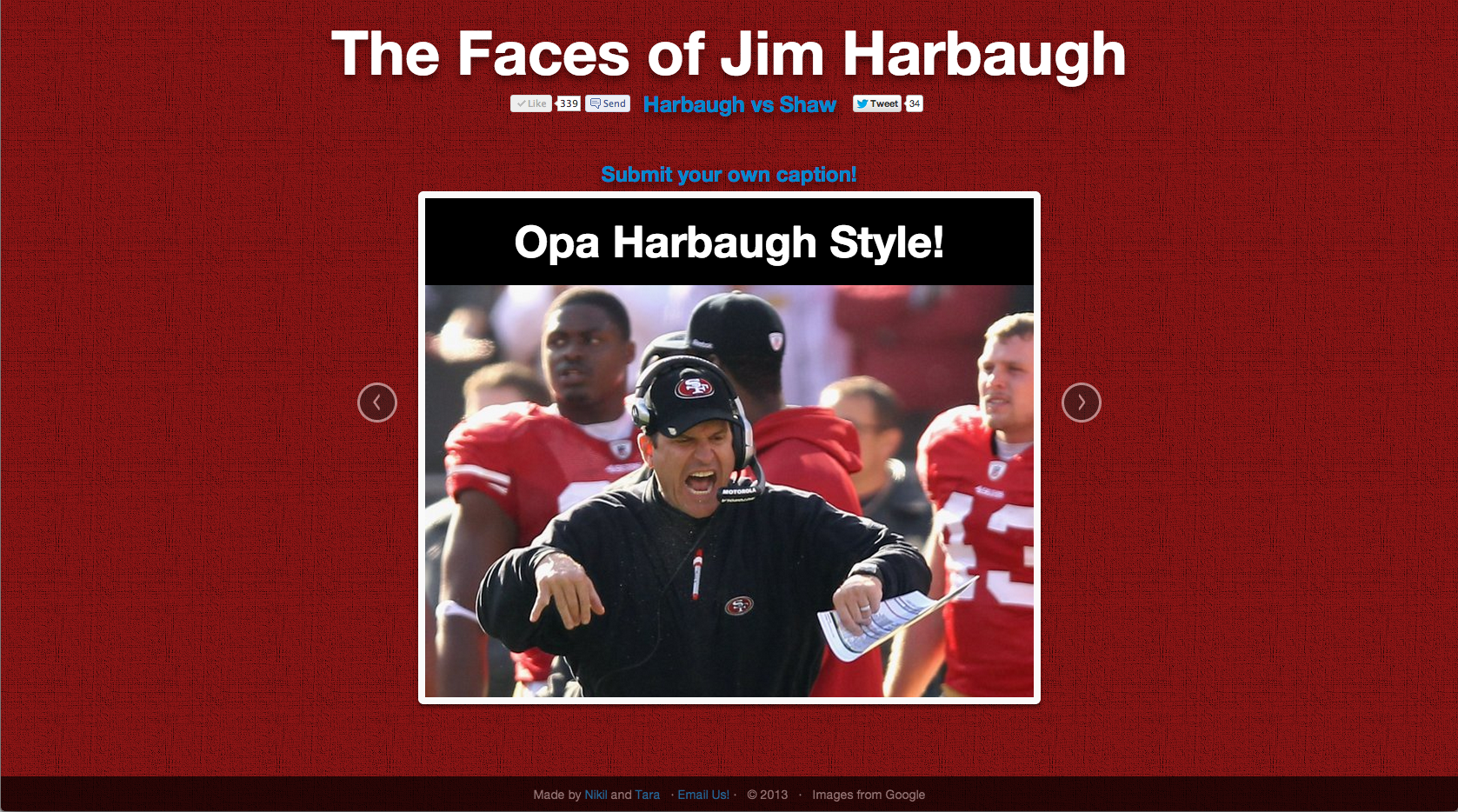 Faces of Harbaugh: Opa Harbaugh Style!