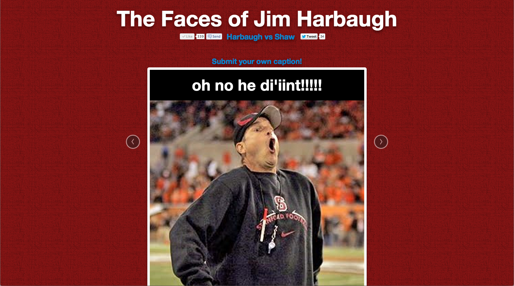 Faces of Harbaugh: Oh no he di'int!!!!!