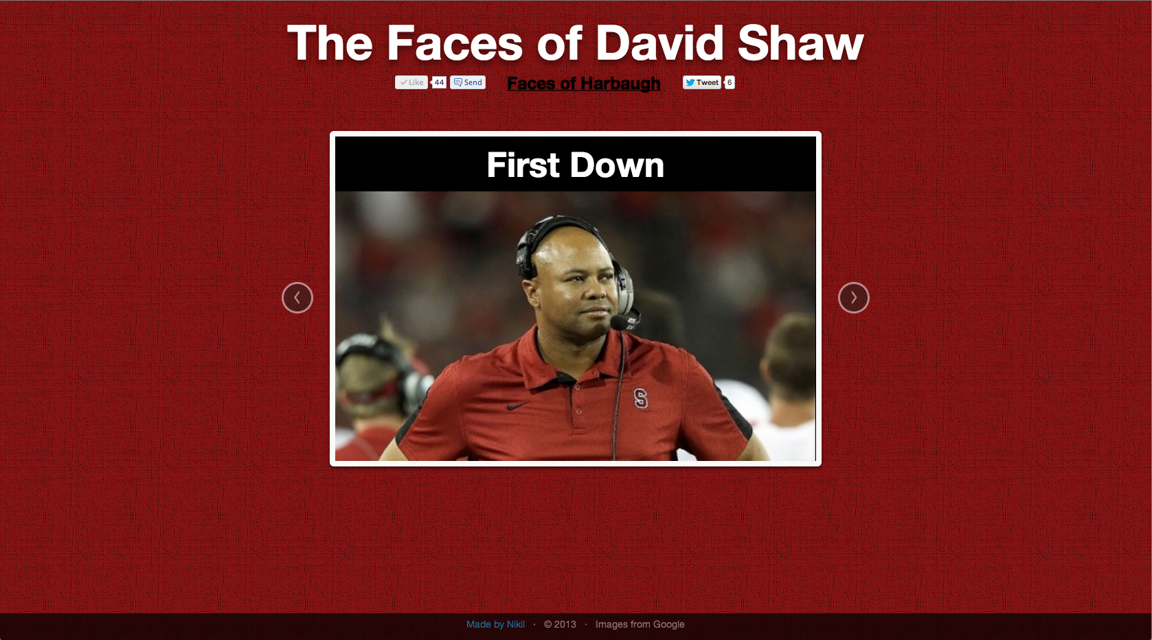 Faces of Shaw: First Down