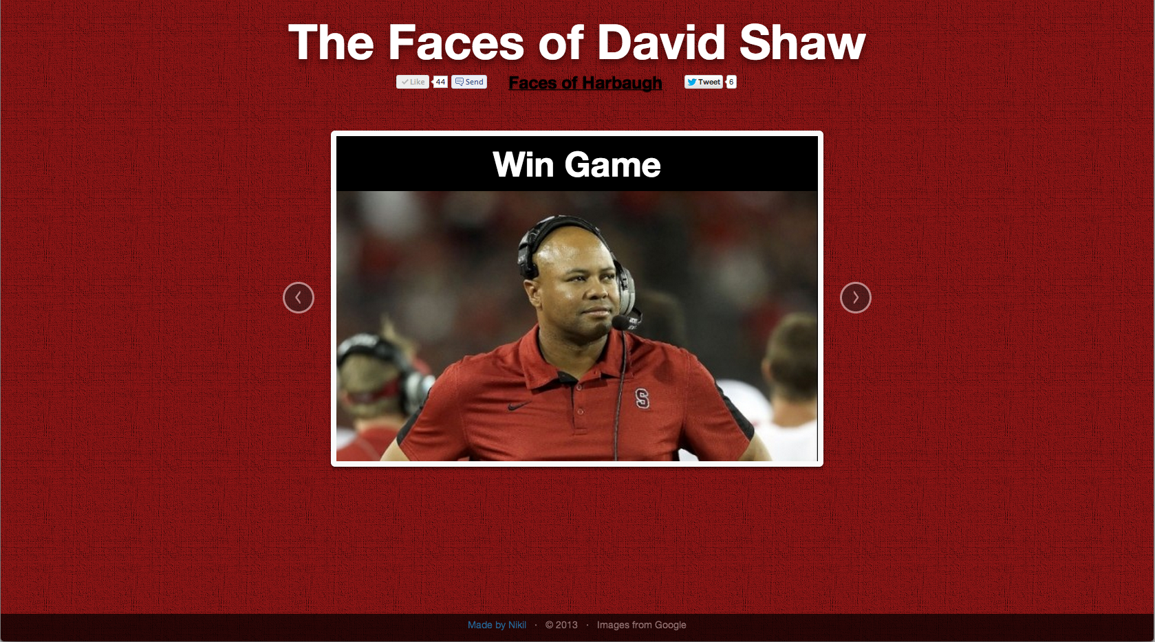 Faces of Shaw: Win Game!