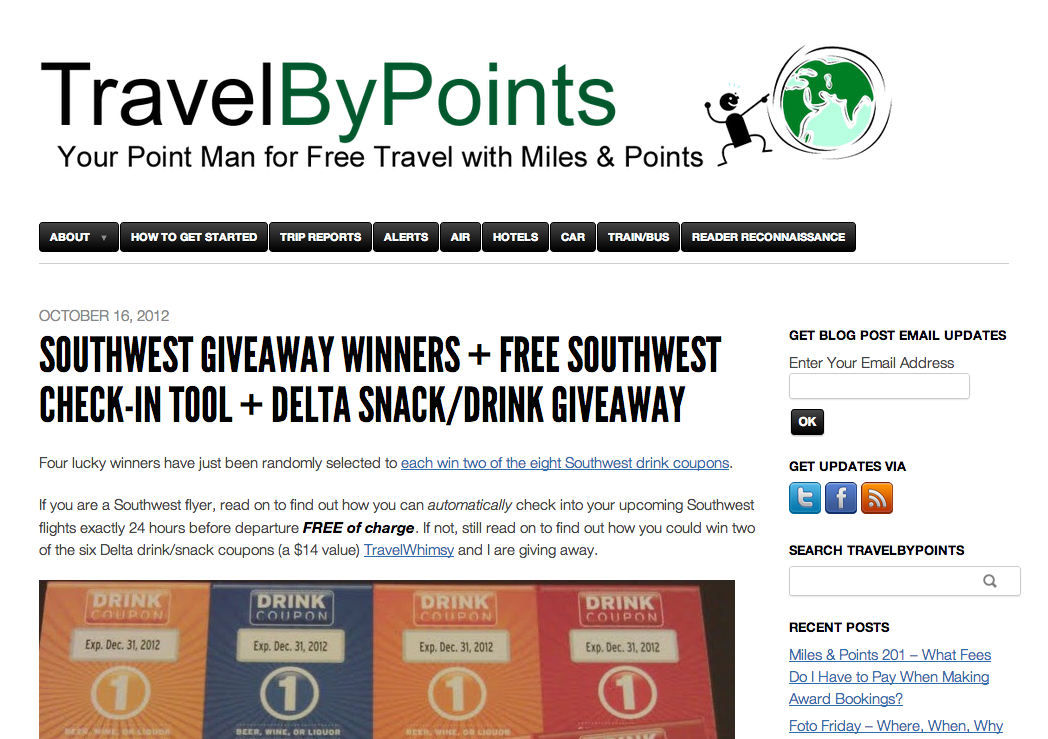 Check In To My Flight Featured on Travel By Points